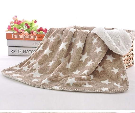 BRANDONN All Season Hooded Ultra Blanket for Babies (Dotts White)