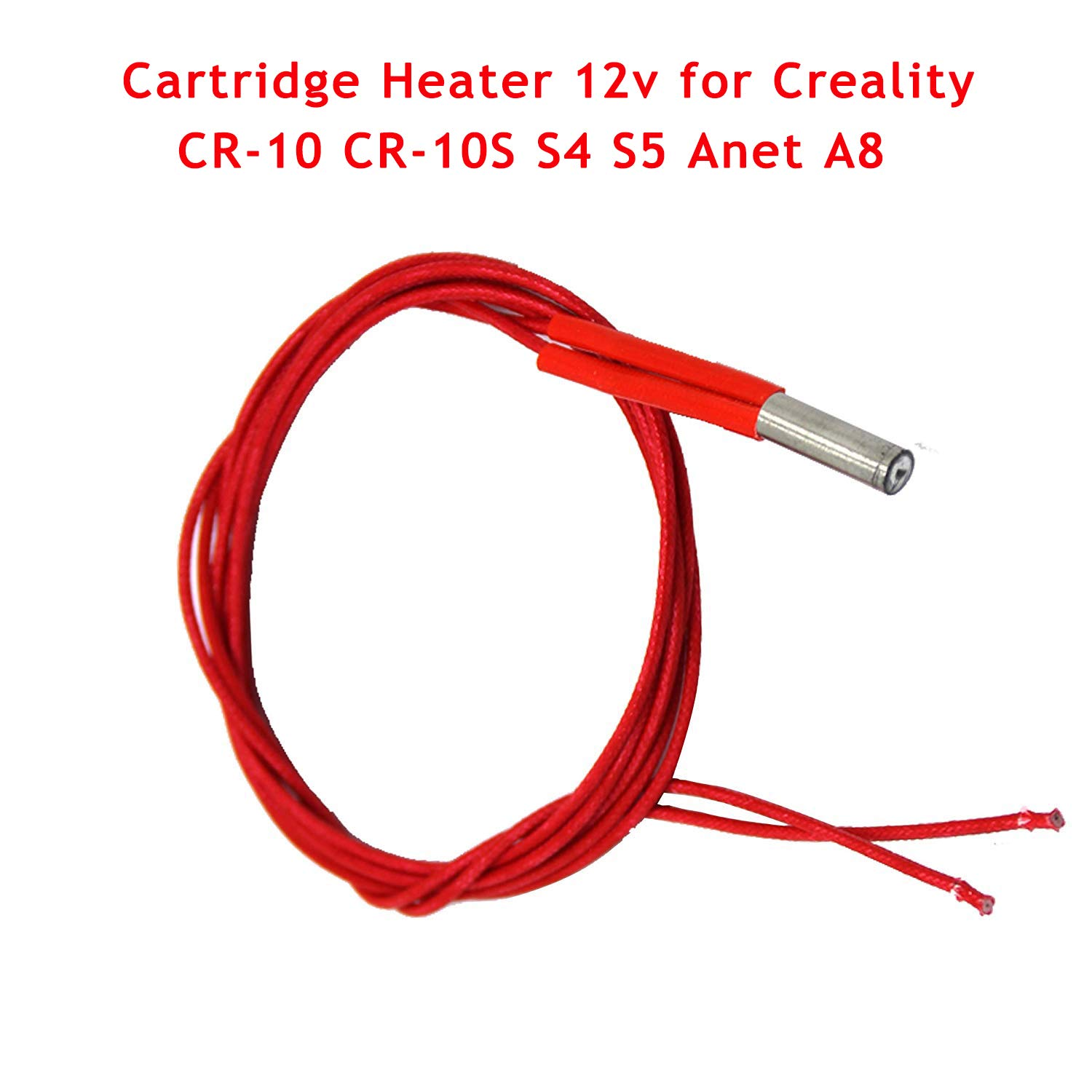 HICTOP Cartridge Heater 12V 40W for Creality CR-10 CR-10S S4 S5 Anet A8 3D Printer Prusa Mendel Heater Tube (Pack of 3)