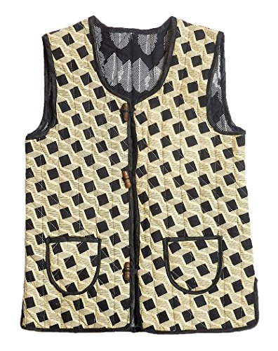 (DollsofIndia Reversible Printed Quilt Jacket for 3 to 4 Year of Age (RM13) Yellow)
