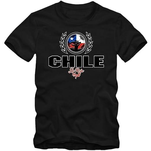 Shirt Happenz Fútbol Chile V2 Camiseta | Hombre | Fútbol | La Roja | Jersey | Equipo Nacional: Amazon.es: Ropa y accesorios
