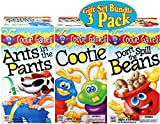 Hasbro Games Ants in the Pants, Cootie & Don't Spill the Beans Gift Set Bundle - 3 Pack, is AWESOME! Ants in the Pants - One by one, flip all the ant pieces inside the dog's pants. Whoever gets them all inside first wins! Includes: pants and susp...