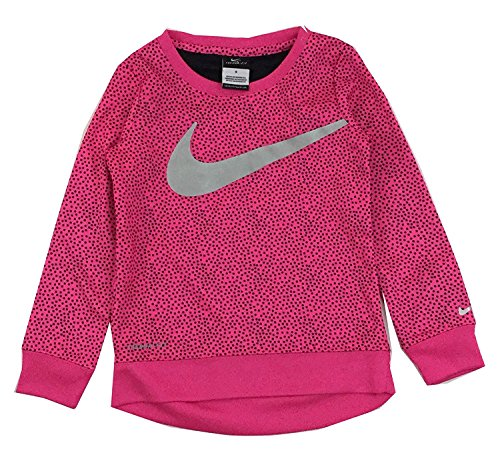 Nike Girls Therma Fit Long Sleeve Shirt Pink Pow (6)