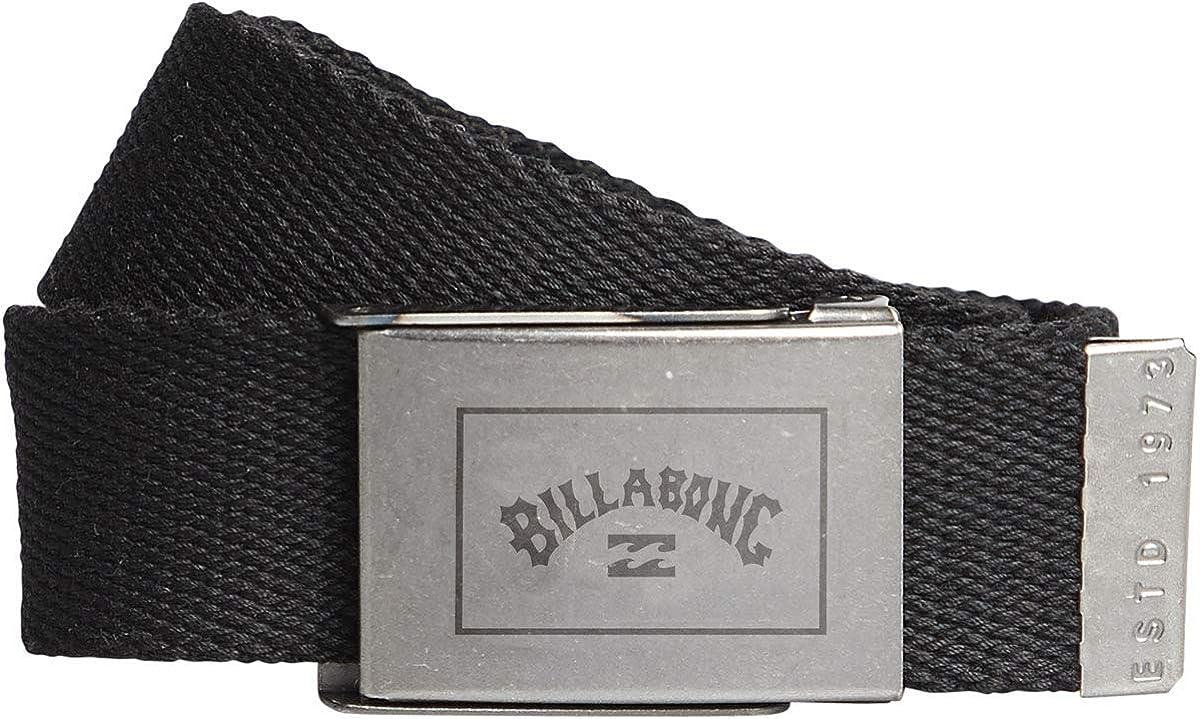 Billabong Woven Cotton Web Belt With Bottle Opener ~ Sergeant black