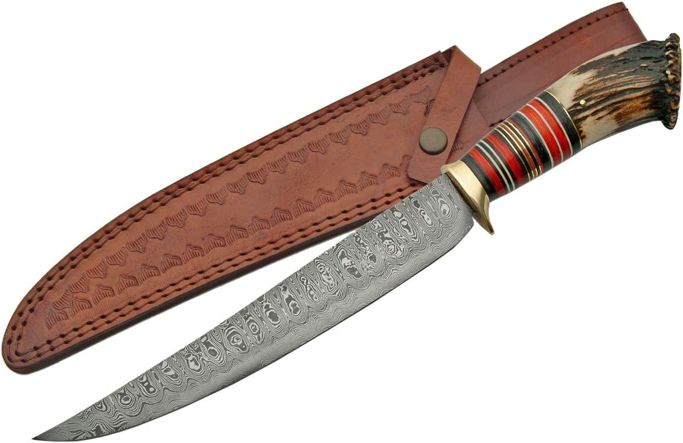 Damascus Szco Supplies Long Hunter Knife