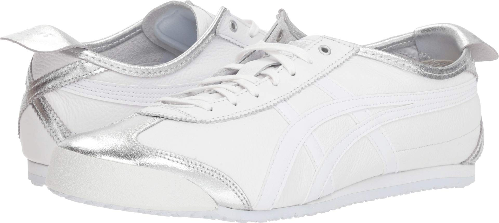 designer fashion decdc 0d2d2 Onitsuka Tiger by Asics Unisex Mexico 66 Silver/White 8 Women / 6.5 Men M  US Medium