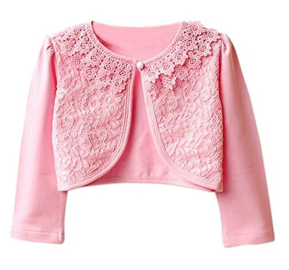 Amazon.com: Luckyauction Girls\' Long Sleeve Lace Bolero Cardigan ...