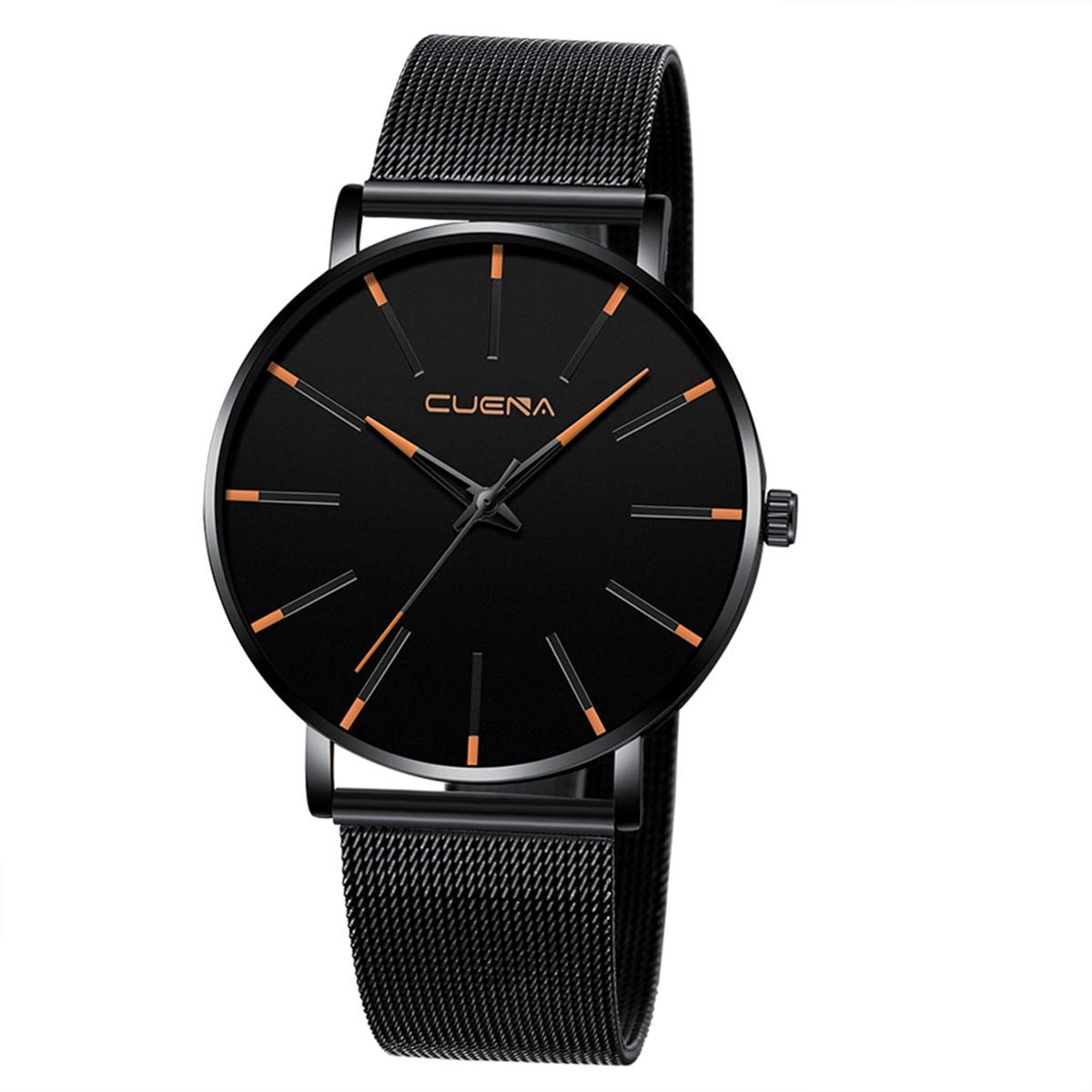 ZODRQ Men's Watch,Fashion Watches Stainless Steel Mesh Wrist Watch Casual Wristwatch Quartz Watch for Men Gift (C) by ZODRQ