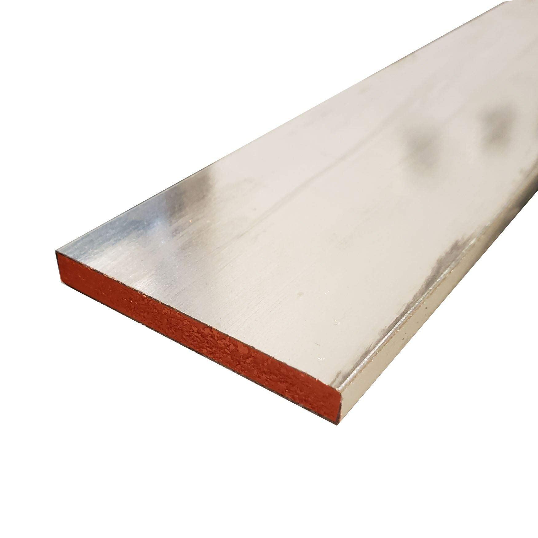 Online Metal Supply C110 Tin Coated Copper Flat (Buss) Bar, 1/4'' x 2'' x 36'' by Online Metal Supply