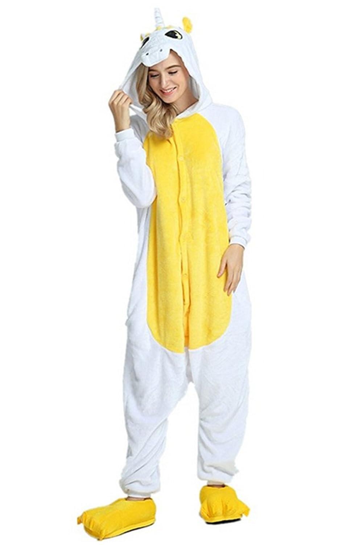 Kenmont Unicornio Juguetes y Juegos Animal Ropa de Dormir Cosplay Disfraces Pijamas para Adulto Niños (Small, Amarillo): Amazon.es: Juguetes y juegos