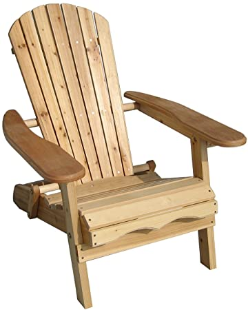 Amazoncom Merry Garden Foldable Adirondack Chair Wooden