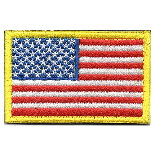 - Tactical American Flag Patch United States of America (USA) Morale Embroidered Military Uniform Emblem