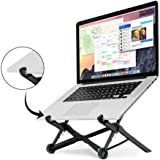 Nexstand, Laptop Stand,Foldable & Adjustable Notebook Holder Eye-Level Ergonomic Lightweight Compact Universal Fit for PC Macbook Computer Black