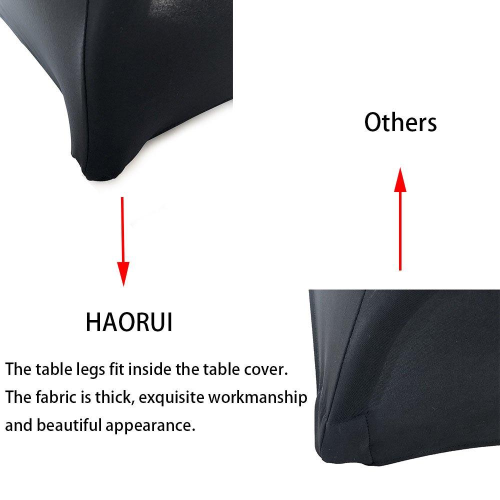 Haorui Rectangular Spandex Table Cover (6 ft. Black) by Haorui (Image #4)