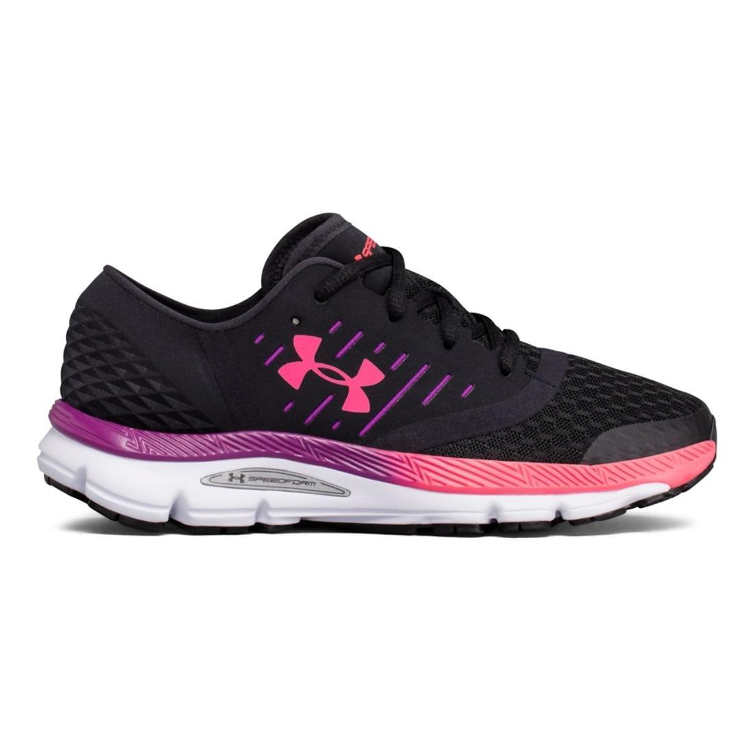 Under Armour Women's Speedform Intake Running Shoe, Black/Stealth Gray/White B01MRWR9GS 10 B(M) US|Black/Purple Rave/Penta Pink