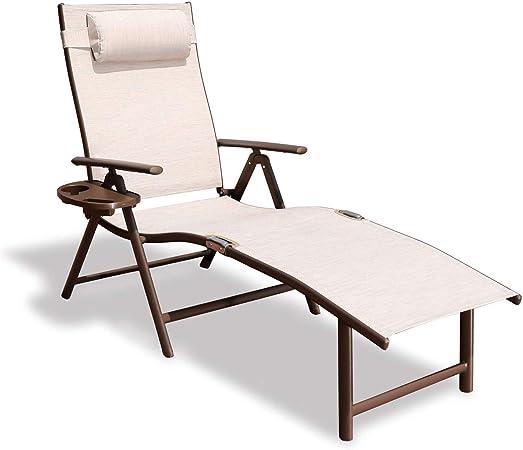 Sun Lounger ergonomically Curved Rattan Chair,Grey