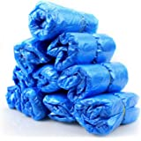 KKmoon 100PCS/Pack Waterproof Disposable Shoe Covers Plastic Protective Overshoes Keeping Floor Cleaning