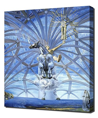 (Salvador Dali Santiago El Grande Framed Canvas Art Print Reproduction)