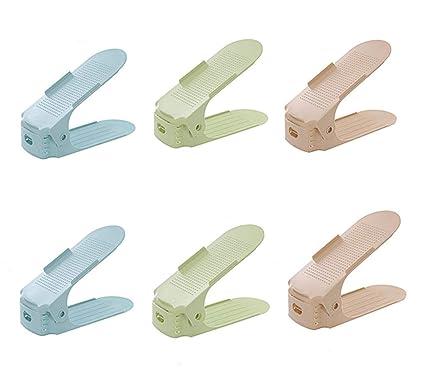 Adjustable Shoe Organizer-shoe Slot Space Saver Rack Holder Clearance Price 12 Pcs-black
