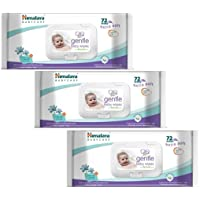 Cheesy Cheeks 3 Pieces Himalaya Gentle Baby Wipes 72 (Multicolour)