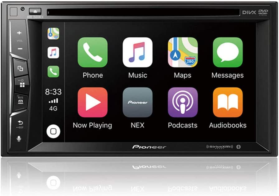 Phone Magnet Holder Backup Camera Included Pioneer AVH-1500NEX Double Din Apple Carplay In-Dash DVD//CD//Am//FM Car Stereo Receiver W// 6.2 Touchscreen