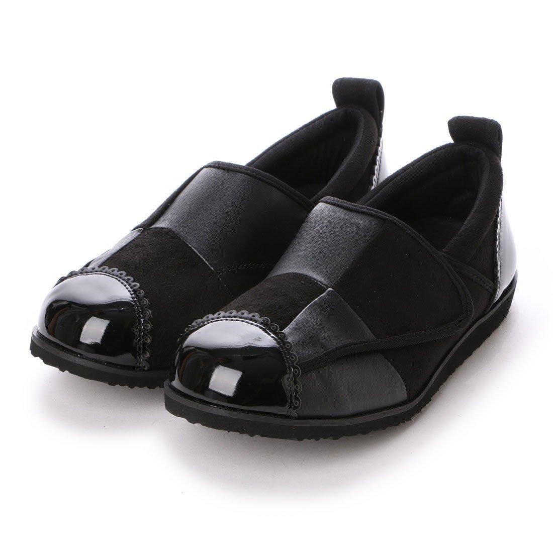 パネルデザインが足を立体的に包み込みます。(クラース)カノン 婦人靴 ウェルネスシューズ コンフォートシューズ B01N34UN59 S(22cm~23cm)|ブラック ブラック S(22cm~23cm)