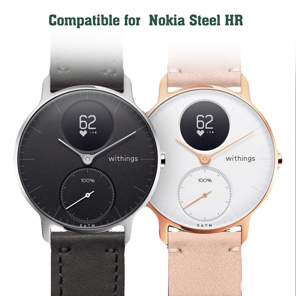 Qoosea Chargeur Compatible Nokia Steel HR Charge USB Cable Dock Chargeur Câble USB Compatible Nokia Steel HR SmartWatch Approprié 36 mm & 40mm: Amazon.fr: ...