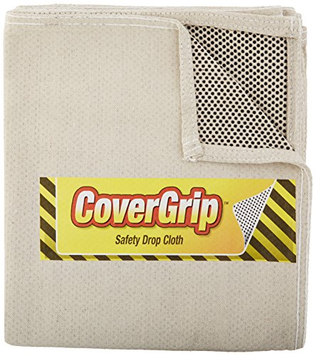CoverGrip 35408 Quick 8 oz. Canvas Safety Drop Cloth, 3.5' x 4'