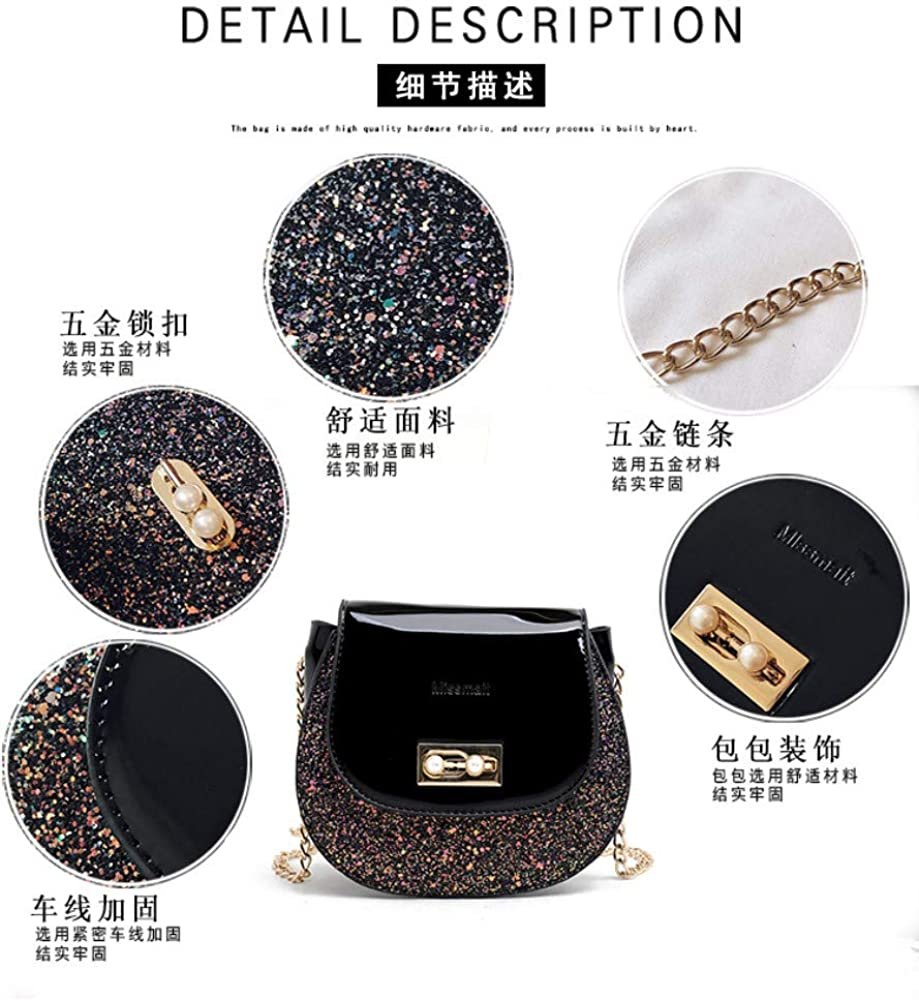 one shoulder coin purse trend Korean crossbody wild foreign mini Saddle M chain black