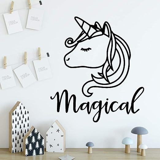 hetingyue Nouvellement conçu Unicorn Room Wall Art Déco Sticker ...