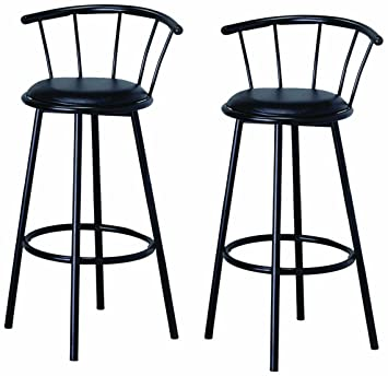 Amazoncom BTExpert Swivel Dining Bar Stool Chairs With Footrest - Bar stool chairs