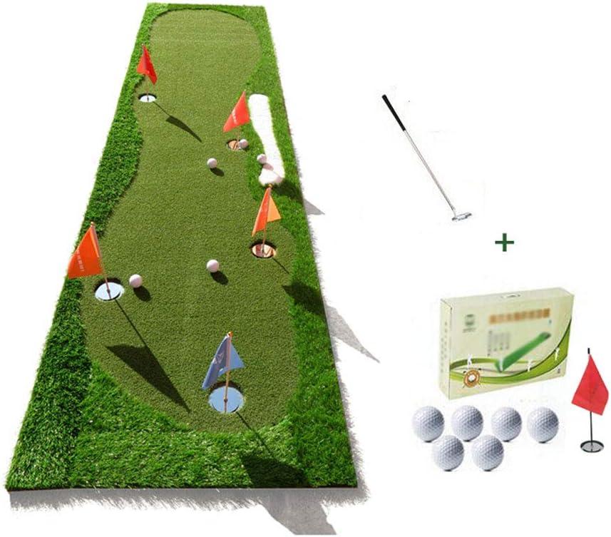 ZHANGQI 室内と屋外のパッティング練習ボールのパッドを練習ブランケットエクササイズボールパッドと練習のゴルフグリーングリーンボールとフラッグサイズの高速プッシュボール:0.8x3.0メートル B