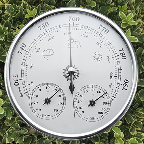 INNI Wall Hanging Weather Forecast Thermometer Hygrometer Air Pressure Meter-30~+50 0~100% Rh 960~1060hPa by INNI (Image #4)
