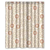expresso bathroom shelves - Eyeselect Flower Polyester Bathroom Curtains Width X Height / 72 X 72 Inches / W H 180 By 180 Cm For Lover Custom Her Custom Teens. Rust Proof. Fabric Material