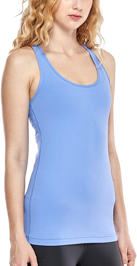 TALLA 36. CRZ YOGA Mujer Camiseta Tirantes Deporte de Sueltas Formación Camiseta sin Mangas