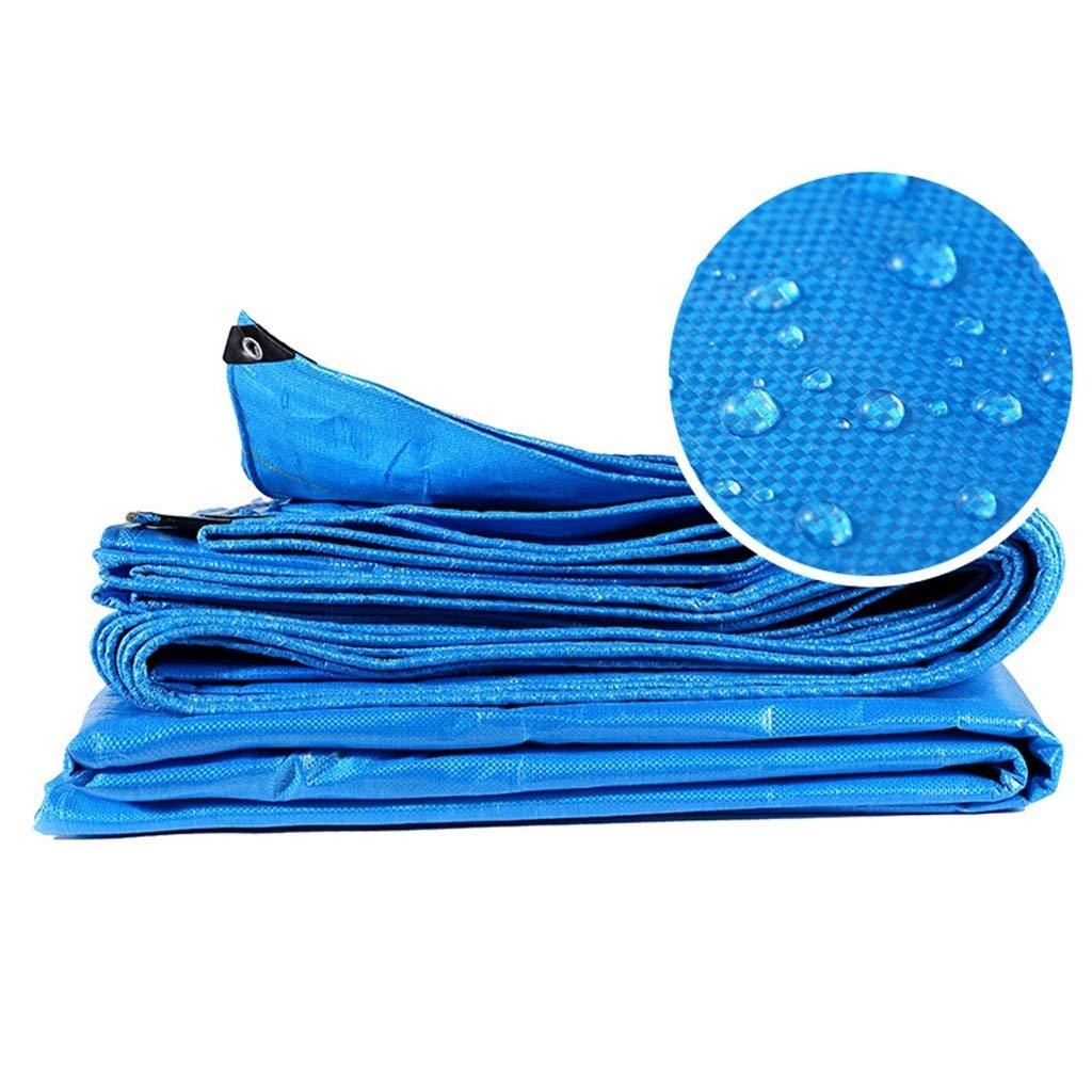 Blaue Wasserdichte Plane Heavy Duty Sheet Prime Bodendecker für Camping Angeln Gartenarbeit Haustiere Regendichte Markise Baldachin Zelt Car Pool Cover Große Tarps (größe   4mx4m)