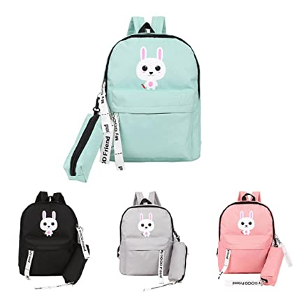 564b8882e9 Image Unavailable. Image not available for. Color  Sunbona Kids Backpack  Teenage Baby Boys Girls Cartoon Rubbit Backpacks With Leash Students School  Bag (