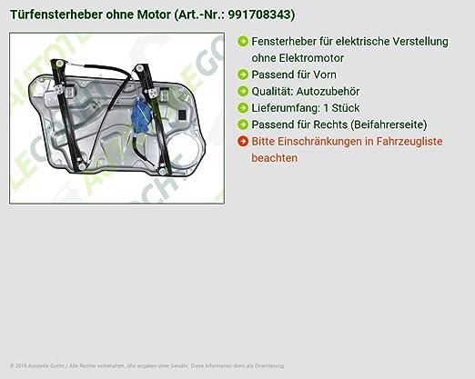 T/ÜRFENSTERHEBER OHNE MOTOR VON AUTOTEILE GOCHT