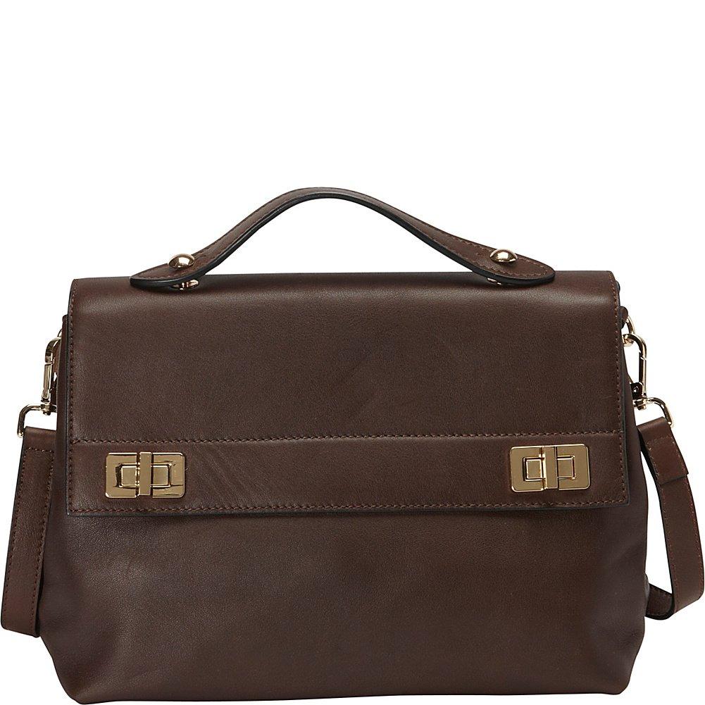 Donna Bella Designs Audrey Leather Shoulder Bag, Brown
