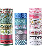 AGU 20 Rolls Washi Tape Set, Decorative Adhesive Tape for DIY Crafts,Beautify Bullet Journals,Planners