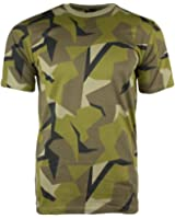 Swedish Army Camouflage Military T-Shirts Army Camo Tops