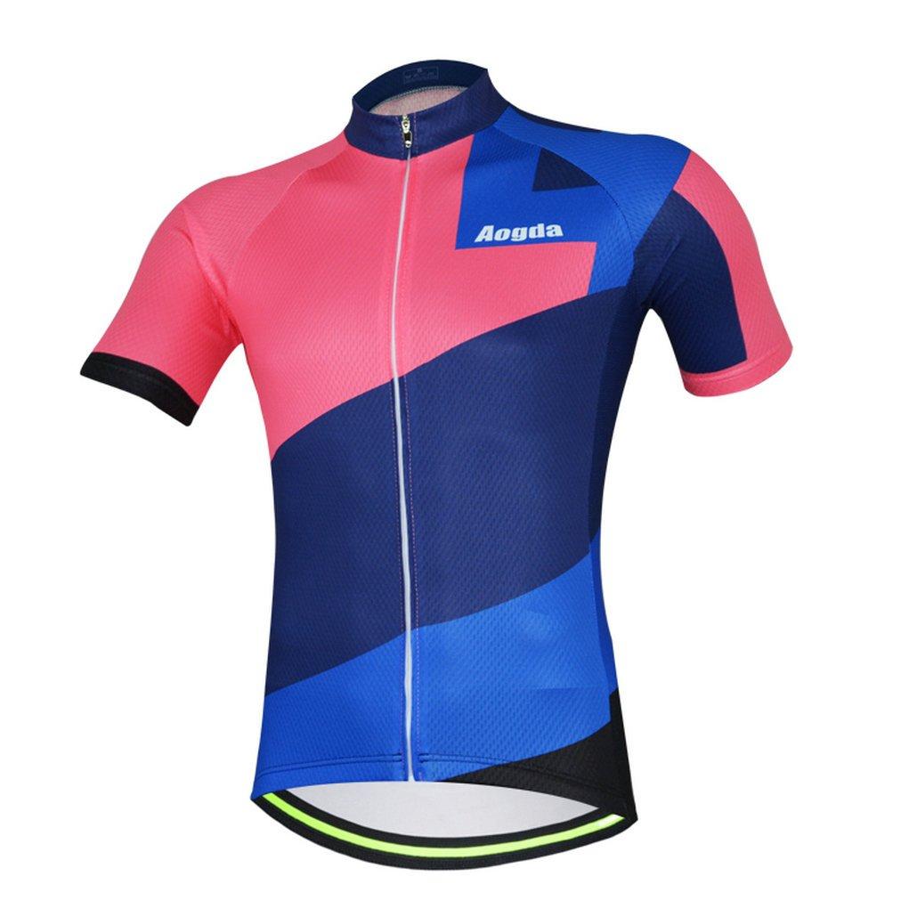 2017 aogda新しいサイクルレーシング服Wearメンズサイクリングジャージークイックドライ通気性バイク半袖ジャケットシャツa703 B072JXSMQB X-Large|シャツ シャツ X-Large
