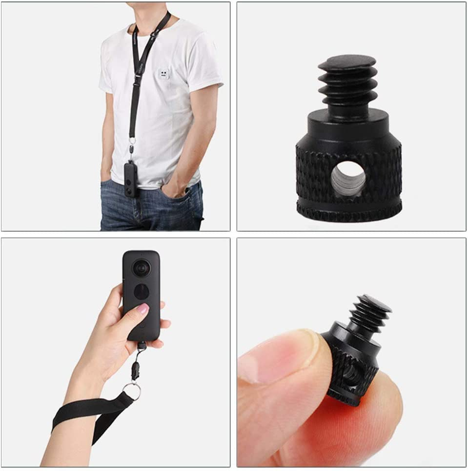 Hooshion Neck Strap Wrist Strap Lanyard with 1//4 Screw for Insta360 One X Panorama Camera