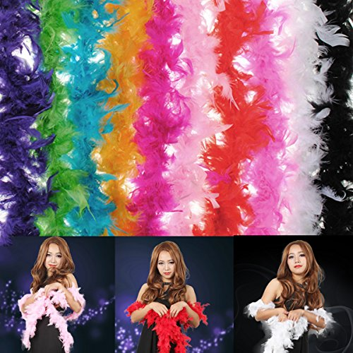 [Costume Fluffy Feather Boa Hen Night Party Wedding Dress Up Scarf] (Hen Night Costume Accessories)