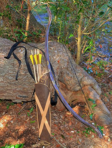 The Lord of the Rings: Legolas Mirkwood Bow, 4 Arrows, and Quiver by CastleWallCreations