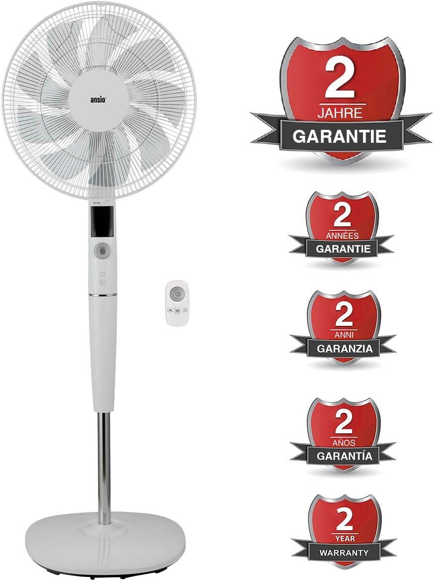 """PREM-I-Air 12/"""" /& 16/"""" Power STAND Piedistallo Ventilatore Con Timer 7 ore e telecomando"""