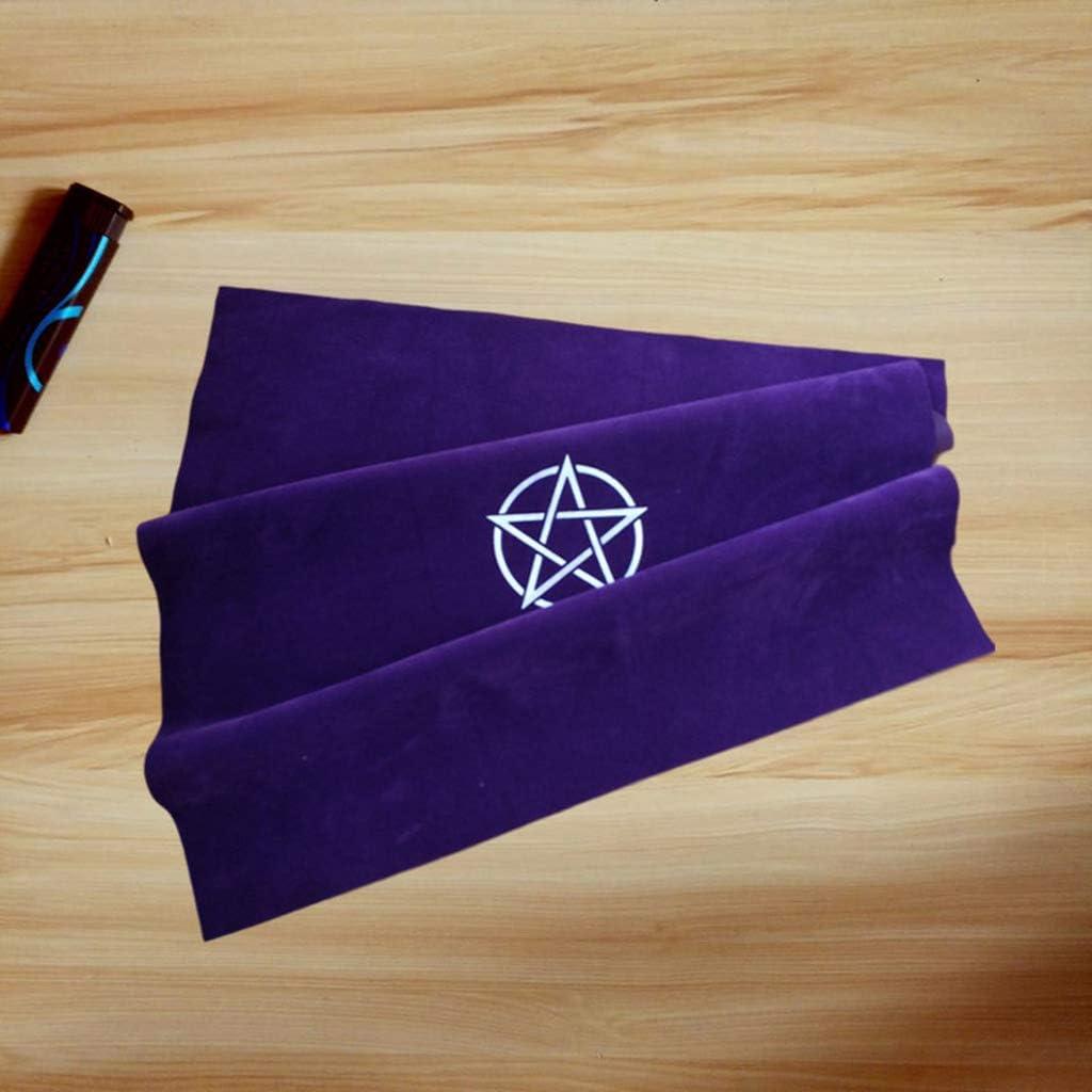 50 x 50 cm pentagrama tarot de terciopelo suave Mantel de tarot con bolsa