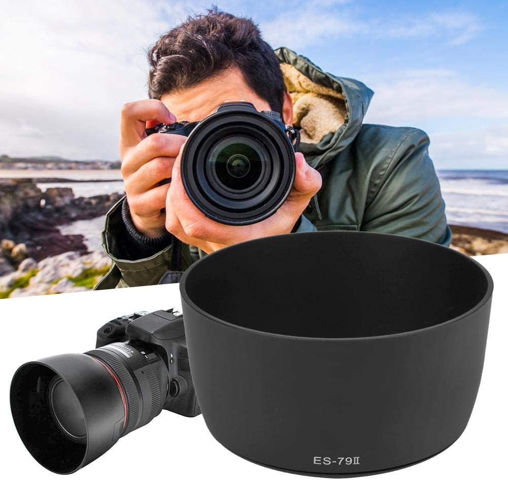 Can Firmly Mounted on The Lens Bewinner Lens Hood,ES-79II Camera Mount Lens Hood for Canon EF 85mm f//1.2L USM Lens,Easy Installation