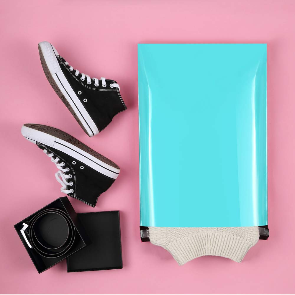 UCGOU 14.5x19 Teal Poly Mailers 2.35MIL Premium Shipping Envelopes Mailer Self Sealed Mailing Bags with Self Adhesive Strip Waterproof and Tear-Proof Postal Bags 100Pcs