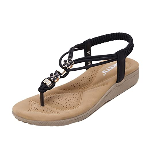 b5e37a22f254a Amazon.com: MILIMIEYIK Lace Up Flats Sandals, Women Cross Tied ...
