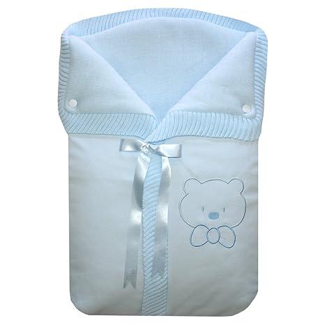 Saco de Mano o Capazo Osito, color azul.